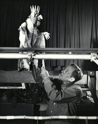 baird with rod puppet